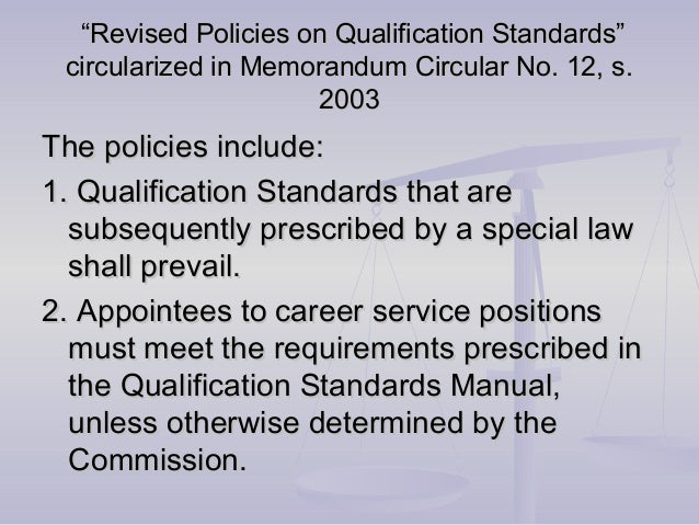 civil service commission evaluation and qualification Civil service rules and regulations rule 1 scope and definitions  meet all requirements for entry into the civil service, including qualification screening and examination provided, however, that the city  the civil service commission to conduct open tests and examinations.