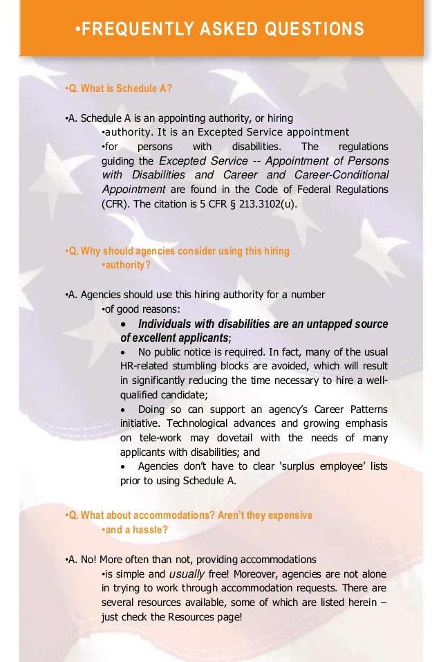 Federal Hiring Reform 5 Cfr Schedule A