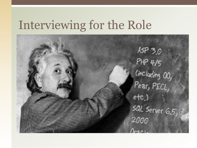Interviewing for the Role