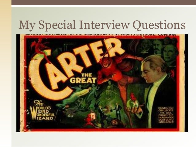 My Special Interview Questions