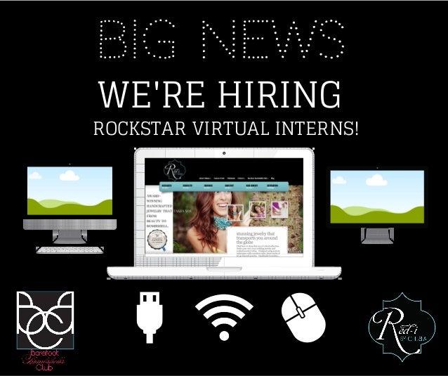 BIG NEWS WE'RE HIRING ROCKSTAR VIRTUAL INTERNS!