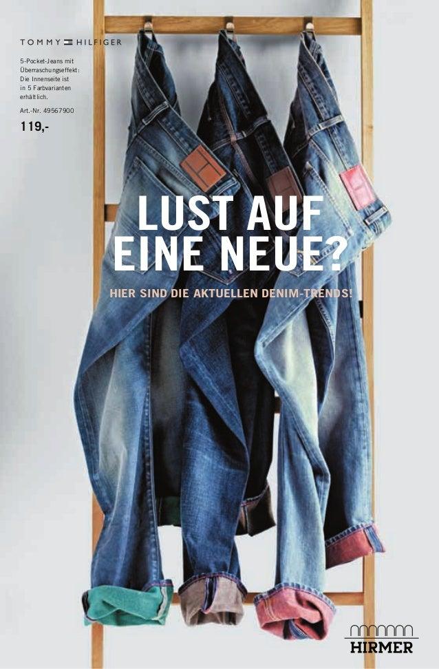 HIER SIND DIE AKTUELLEN DENIM-TRENDS! 5-Pocket-Jeans mit Überraschungseffekt: Die Innenseite ist in 5 Farbvarianten erhält...