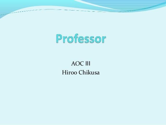 AOC Ⅲ Hiroo Chikusa