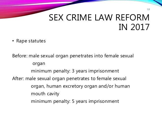 Sex crime penalties