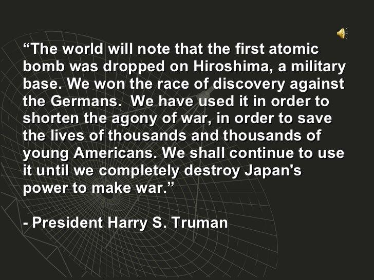 Why Drop an Atomic Bomb? To Save Lives! - burtfolsom.com
