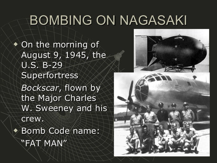 the bombing of hiroshima and nagasaki Three days later, another nuclear bomb was dropped on nagasaki a week later, japan surrendered the bomb brought world war two to a sudden end, but was it right to use it.