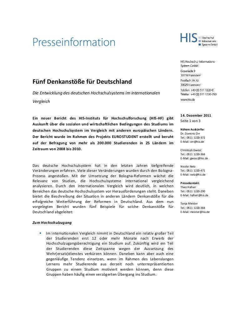 Fünf Denkanstöße für DeutschlandDieEntwicklungdesdeutschenHochschulsystemsiminternationalenVergleich              ...