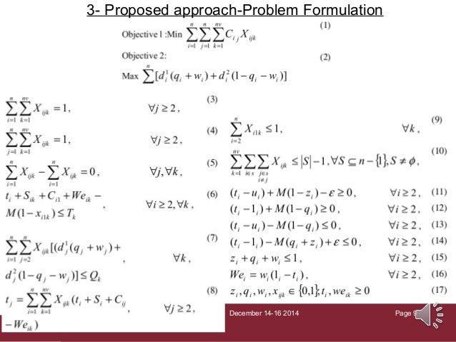 Lesson 2: Problem formulation