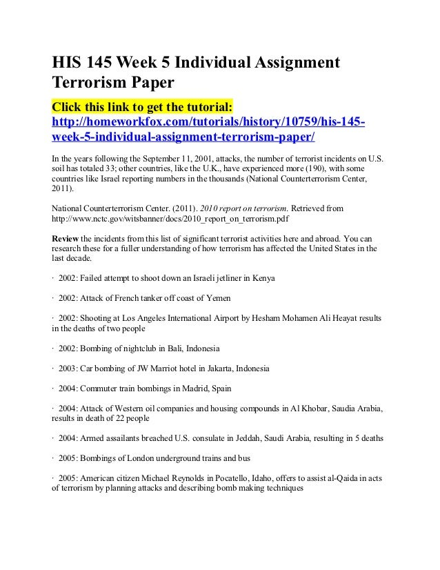Custom research papers on terrorism