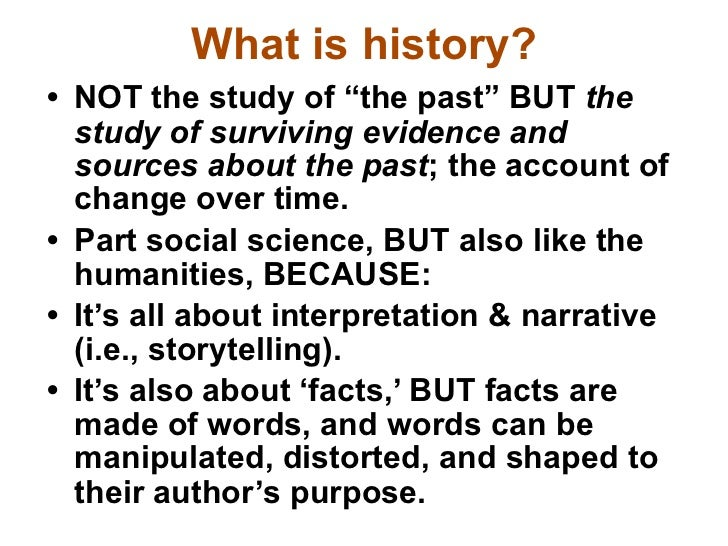 HIS 2213 LU1 What Is History?