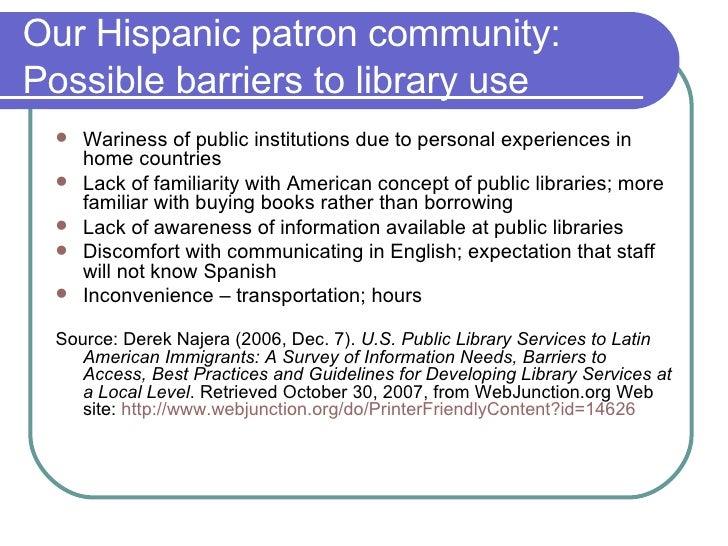 Hispanic Patrons And Web 2.0 Slide 2