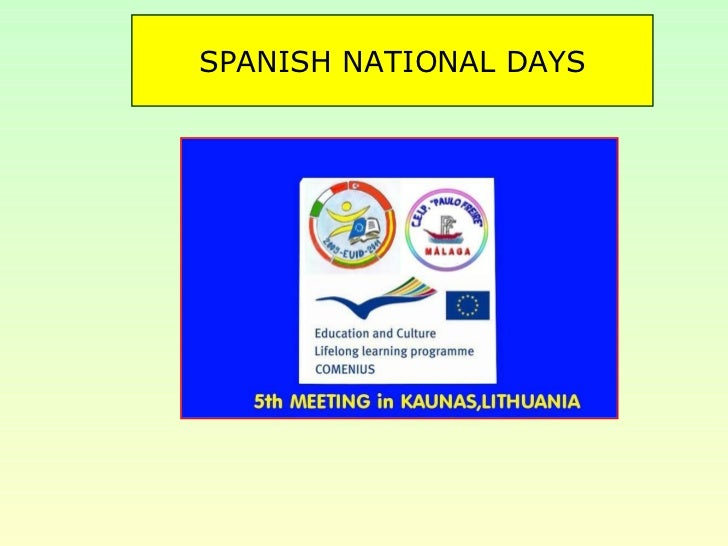 SPANISH NATIONAL DAYS