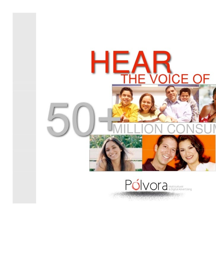 HEAR OF  THE VOICE50+  MILLION CONSUMERS