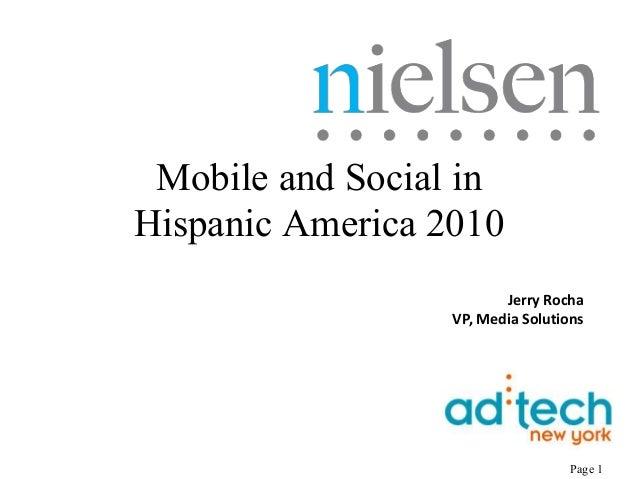 Hispanic mobile and social networking for ad tech 11410 Slide 1