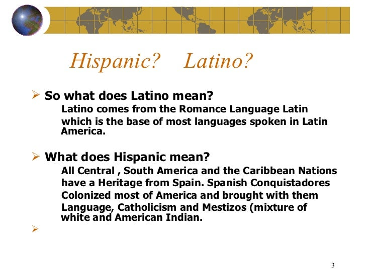 Language among hispanics and latins