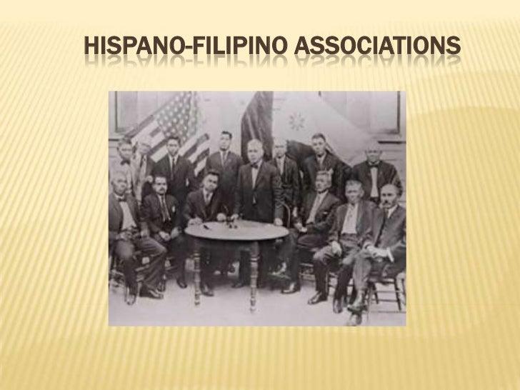 HISPANO-FILIPINO ASSOCIATIONS