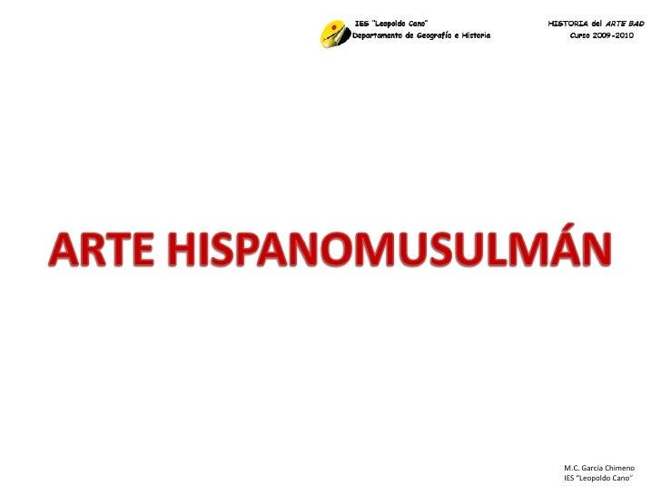 """M.C. García Chimeno IES """"Leopoldo Cano """""""