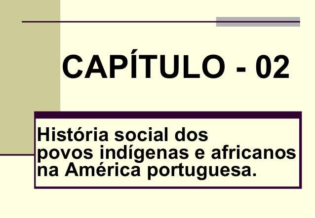 CAPÍTULO - 02 História social dos povos indígenas e africanos na América portuguesa.