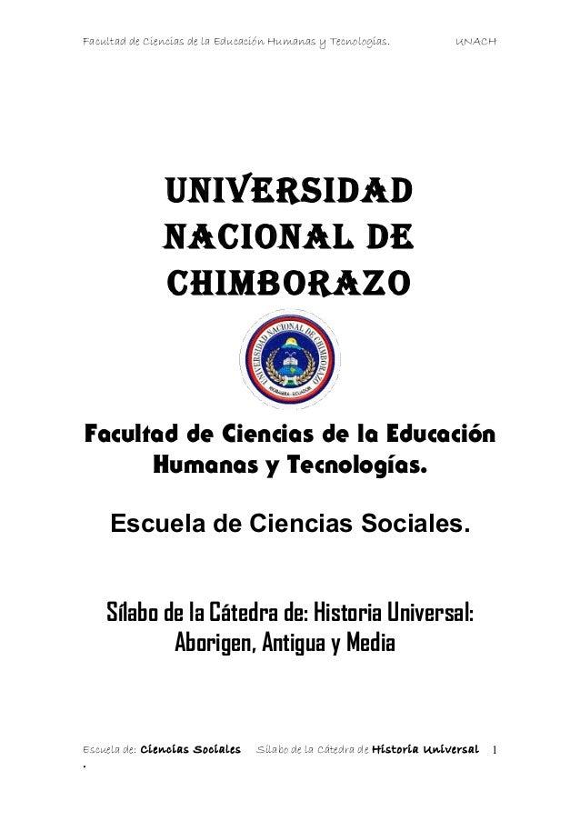 Facultad de Ciencias de la Educación Humanas y Tecnologías. UNACHUniversidadnacional dechimborazoFacultad de Ciencias de l...
