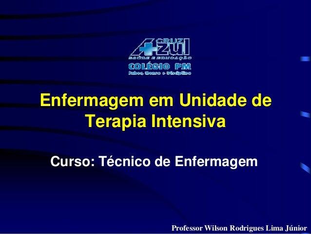 Enfermagem em Unidade de  Terapia Intensiva  Curso: Técnico de Enfermagem  ProfessorWilson Rodrigues Lima Júnior