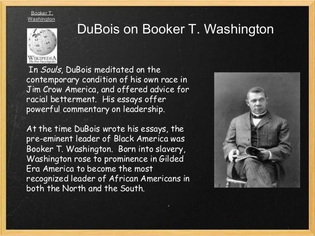 Booker t washington and web dubois essay