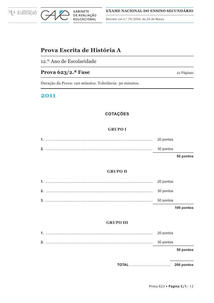 EXAME NACIONAL DO ENSINO SECUNDÁRIO                                                            Decreto-Lei n.º 74/2004, de...