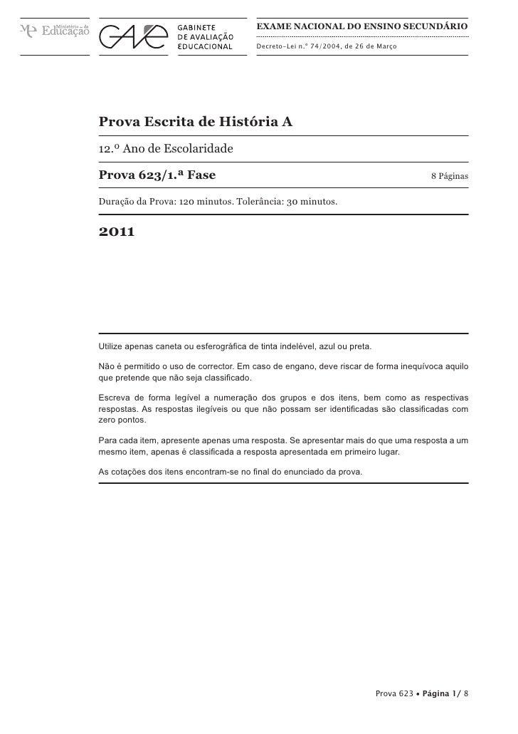 Exame Nacional do Ensino Secundário                                          Decreto-Lei n.º 74/2004, de 26 de MarçoProva ...