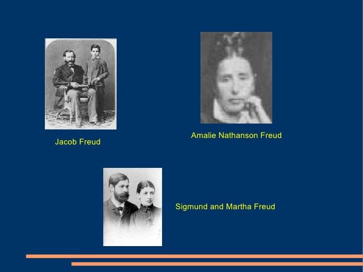 Amalie Nathanson Freud Jacob Freud Sigmund and Martha Freud
