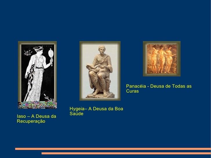 Iaso – A Deusa da Recuperação Hygeia– A Deusa da Boa Saúde Panacéia - Deusa de Todas as Curas