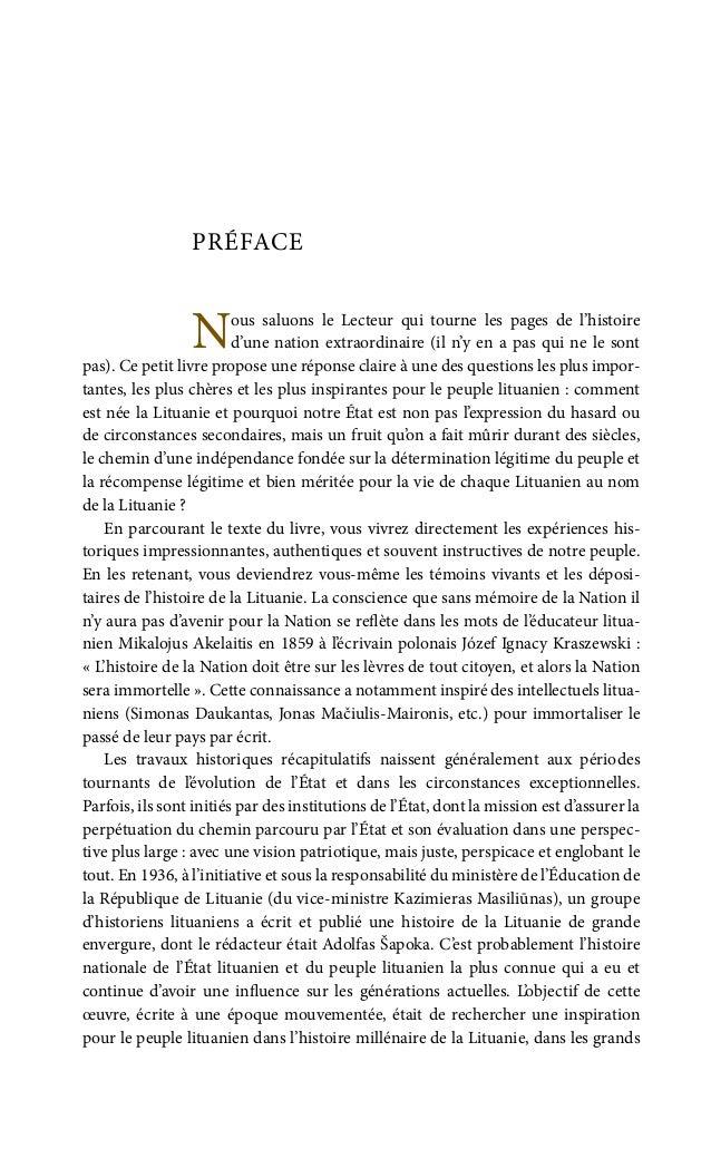 11 (il a écrit les chapitres I et II, l'introduction et le dernier chapitre «Fin ou les visages éparpillés de la Lituanie...