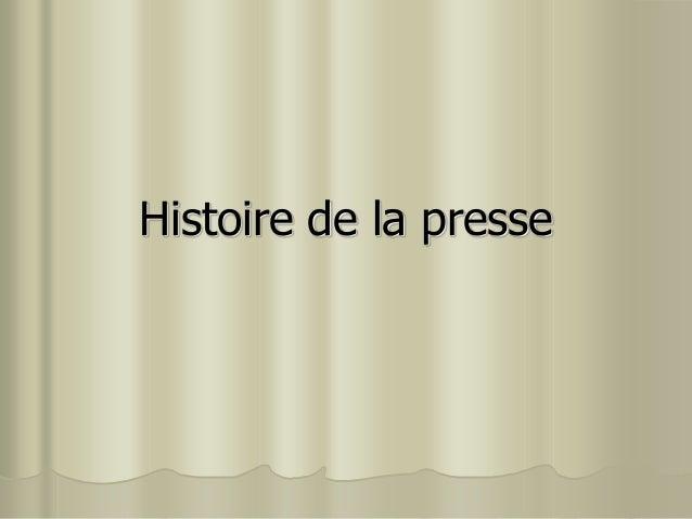Histoire de la presse