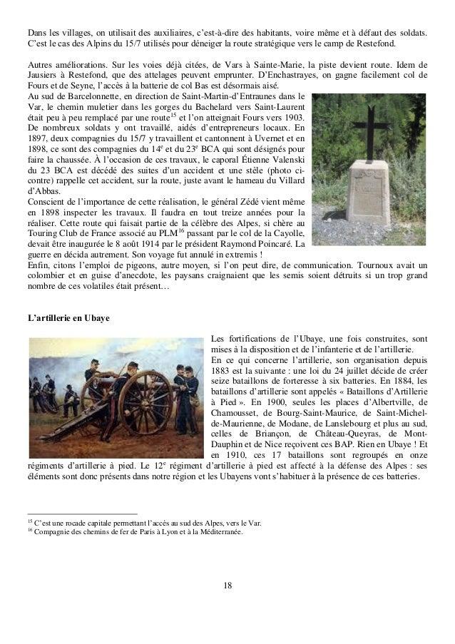 18 Dans les villages, on utilisait des auxiliaires, c'est-à-dire des habitants, voire même et à défaut des soldats. C'est ...