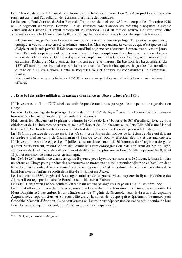 20 Ce 1er RAM, stationné à Grenoble, est formé par les batteries provenant du 2e RA au profit de ce nouveau régiment qui p...