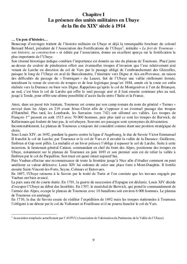 9 Chapitre I La présence des unités militaires en Ubaye de la fin du XIXe siècle à 1914 … Un peu d'histoire… Beaucoup d'ou...