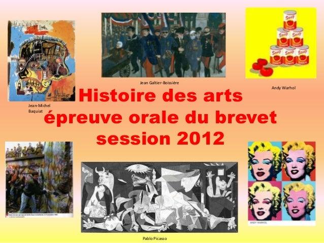 Jean Galtier-Boissière          Histoire des arts                                         Andy Warhol       épreuve orale ...