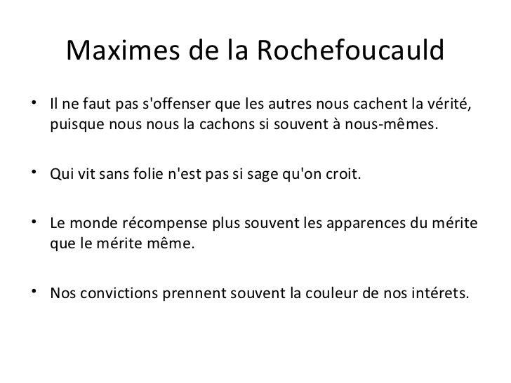 dissertation sur les maximes de la rochefoucauld