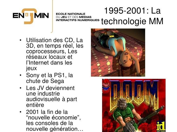 1995-2001: La                            technologie MM  • Utilisation des CD, La   3D, en temps réel, les   coprocesseurs...