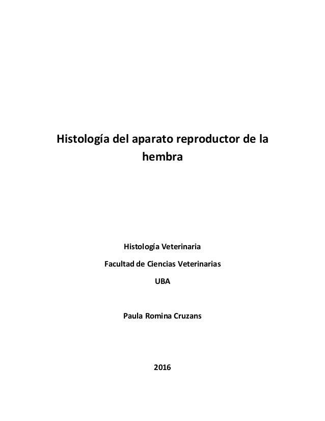 Histología del aparato reproductor femenino