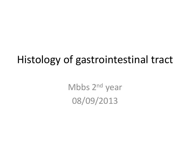 Histology of gastrointestinal tract Mbbs 2nd year 08/09/2013