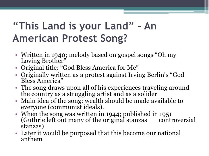 Protest music essays