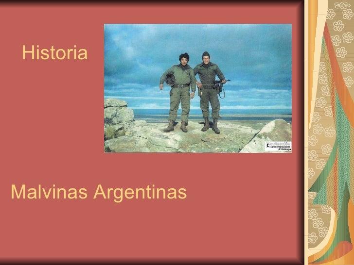 Historia Malvinas Argentinas