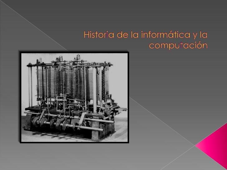    El origen de las maquinas de calcular esta dado por el ábaco chino, el primer    ordenador llamado Mark 1 aparecio en ...