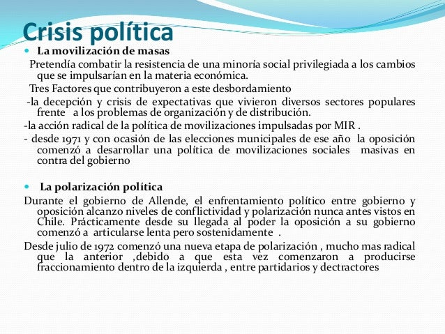 Crisis política  La movilización de masas Pretendía combatir la resistencia de una minoría social privilegiada a los camb...