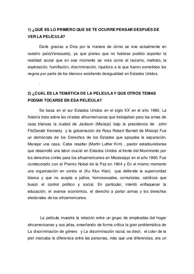 PELICULA CRIADAS Y SEÑORAS (RESUMEN)
