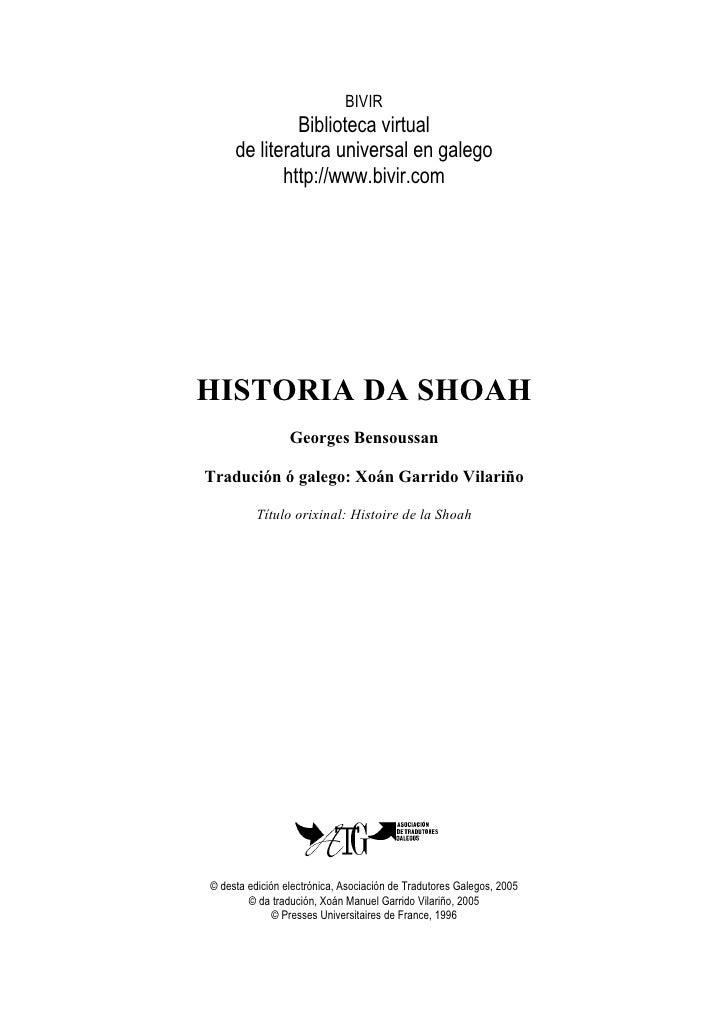 BIVIR               Biblioteca virtual      de literatura universal en galego             http://www.bivir.com     HISTORI...