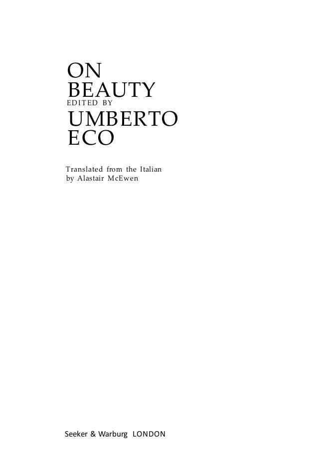 Historia de la belleza Umberto Eco Slide 2
