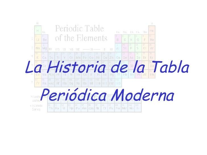 Historia de la tabla peridica la historia de la tabla peridica moderna urtaz Image collections