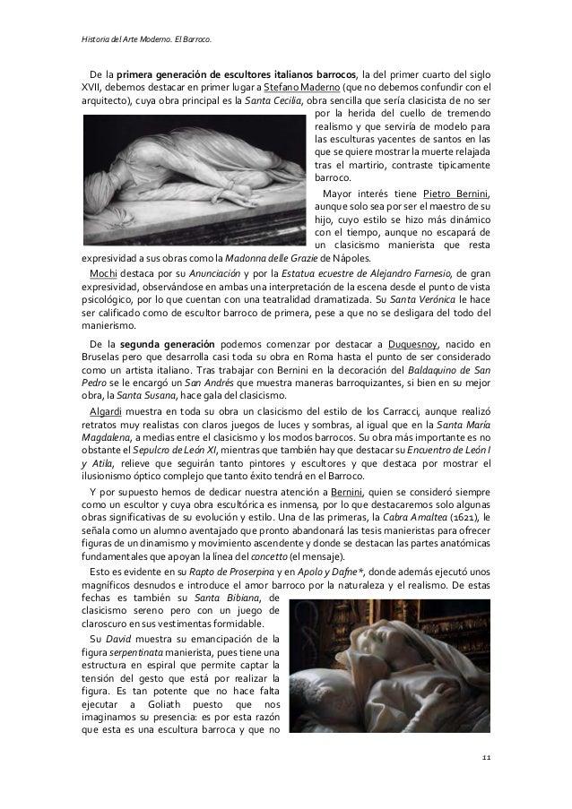Historia del Arte Moderno. El Barroco. 11 De la primera generación de escultores italianos barrocos, la del primer cuarto ...