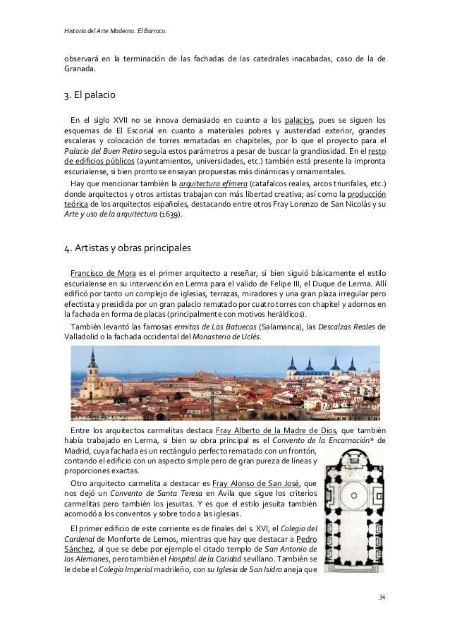 Historia del Arte Moderno. El Barroco. 34 observará en la terminación de las fachadas de las catedrales inacabadas, caso d...