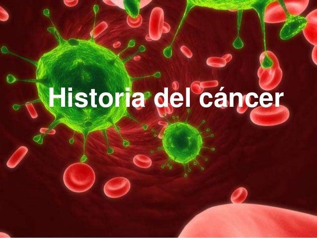 Historia del cáncer